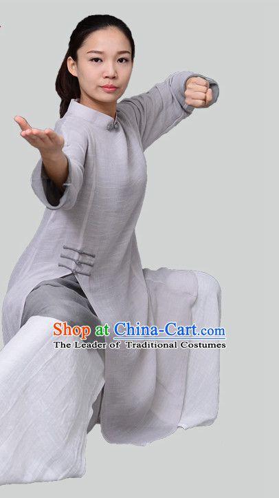Top Kung Fu Costume Martial Arts Kung Fu Training Uniform Gongfu Shaolin Wushu Clothing for Men Women Adults Children