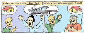 El estudiante de arquitectura a través de 15 tiras cómicas, por Tristán Comics