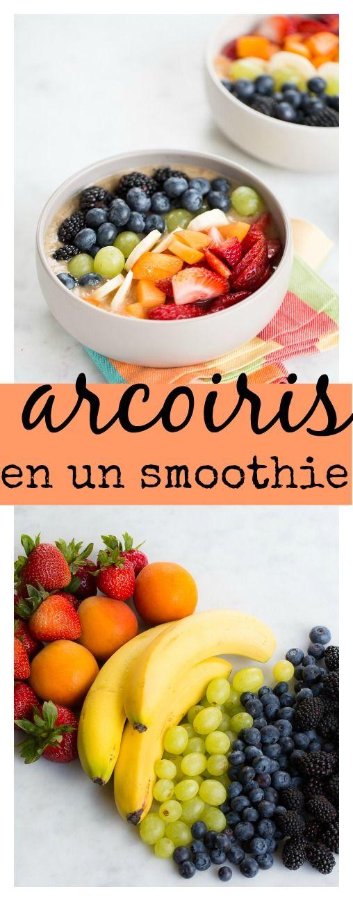 Smoothie bowl lleno de colores de arcoiris, vamos a comer el arcoiris  | desayunos veganos | | desayunos veganos recetas | | desayunos veganos faciles | | desayunos veganos breakfast |  http://www.piloncilloyvainilla.com/