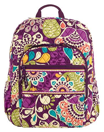 Campus Backpack in Plum Crazy, $109 | Vera Bradley