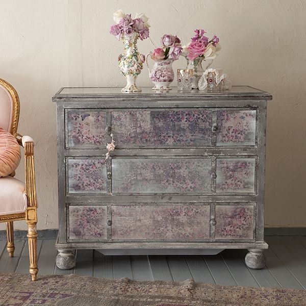 Rachel Ashwell Shabby Chic Couture Faded Grandeur Mirrored Dresser