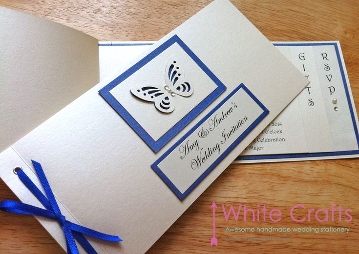 Butterfly themed cheque book wedding invitation Invitations | White Crafts www.whitecrafts.com #ButterflyWedding #ButterflyThemedWedding #Wedding #Butterfly #ButterflyWeddingInvitation