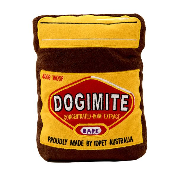 Our all Australian Dogimite toy makes the perfect play accessory for your Aussie pup. Inspired by the iconic brand vegemite. *Please note, Our toys are soft