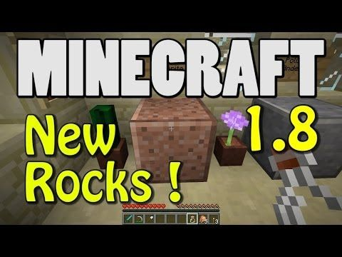 ▶ Minecraft 1.8 - New Igneous Rocks! (GRANITE! DIORITE! ANDESITE!) - YouTube Stop @ 1:30
