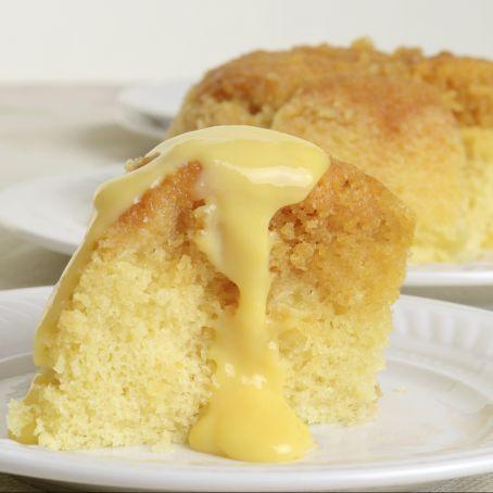Sponge cake al microonde con crema pasticcera