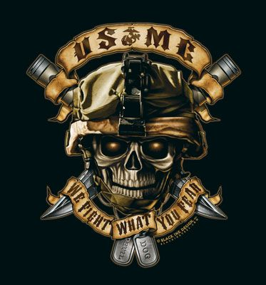 ROTHCO BLACK INK USMC WE FIGHT WHAT YOU FEAR