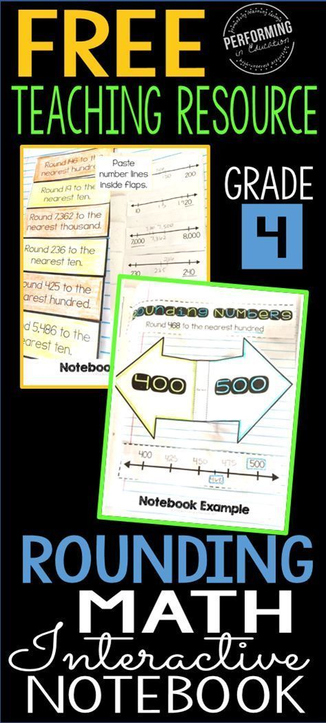 Free Interactive Math Notebook for Rounding! Common Core aligned for 4th grade - I love using these pages for lessons and then sending my students home to study and color them for homework!