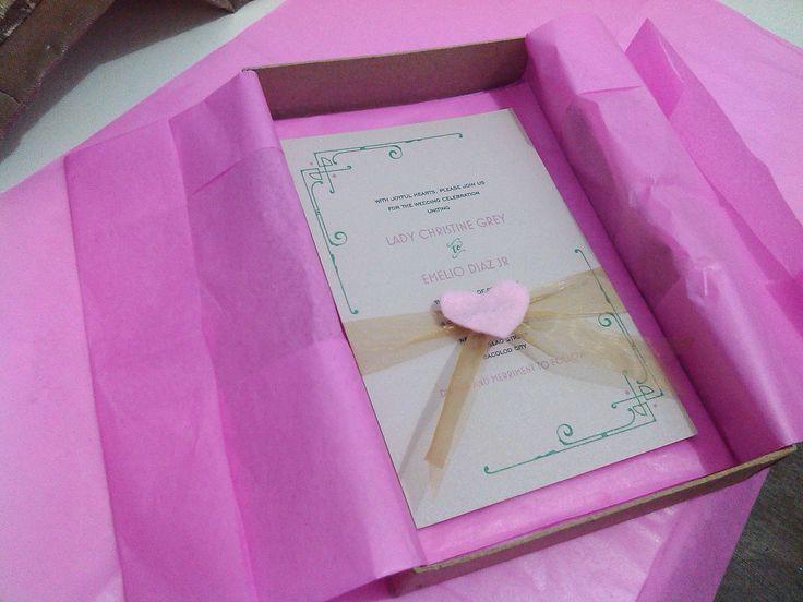 our DIY invitation | wedding ideas | Pinterest