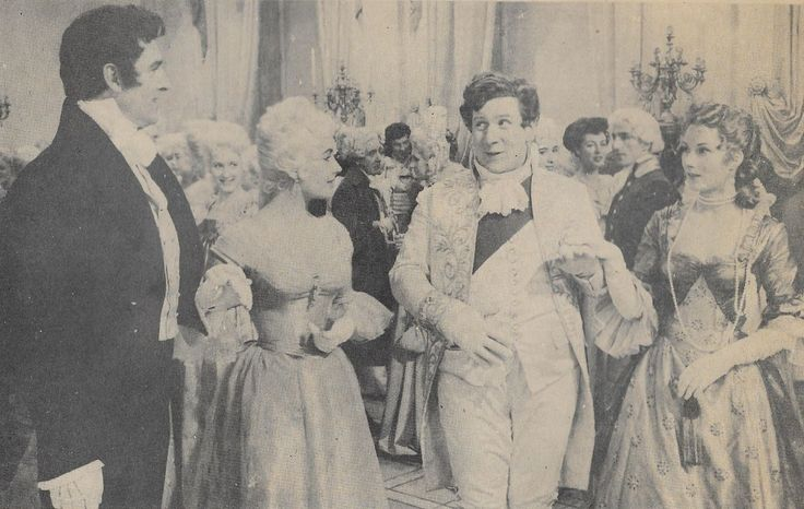 Elizabeth Taylor, Stewart Granger, Peter Ustinov, and Rosemary Harris in Beau Brummell (1954)..