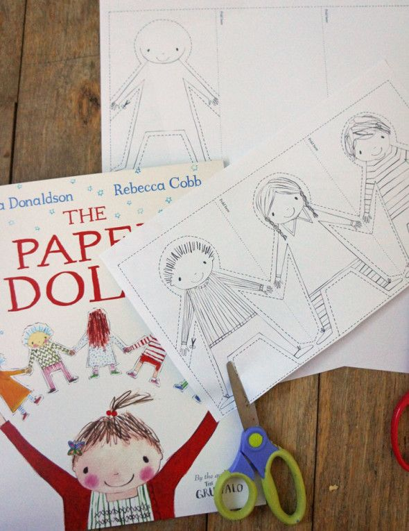 Paper dolls chains from The Paper Dolls by Julia Donaldson