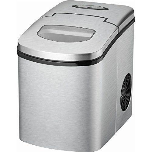 Gino Gelati GG de btm2280W numérique à glaçons machine à glaçons Ice Maker Max. 15kg/24h: Numérique en acier inoxydable Bac à glaçons…