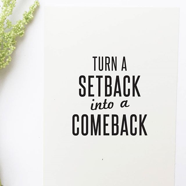 Never give up! Turn your setbacks into comebacks and be sure to succeed!  _______________________________________ :herb: Download the FREE beautiful goal tracking inspirational quote calendar printable to help you reset, get back on track, and receive the most out of the second half of 2016. Clic