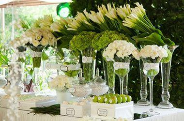 зеленый, зеленые оттенки, свадебное оформление, свадебный декор, оформление свадебного стола, оформление свадьбы цветами; green, green shades, wedding decoration, wedding flower wecoration;