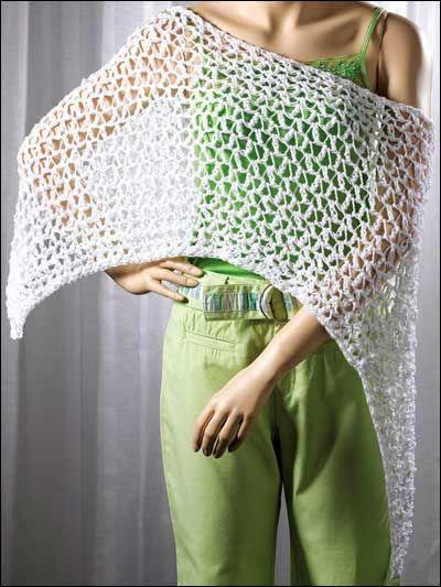 Crochet Peek-a-Boo Poncho with FREE Pattern