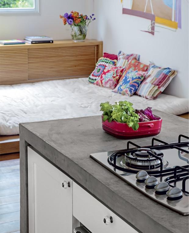 bancada cozinha concreto