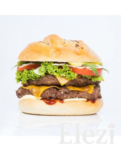 Burger Elezi 100% morčacie mäso, tvoj burger bez kompromisov | elezi.sk | poctivá zmrzlina, torty, zákusky, slané, káva, burger