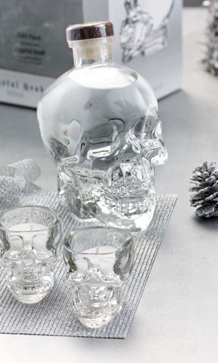 LCBO Unique Gifts list featuring the Crystal Head Vodka Gift Set