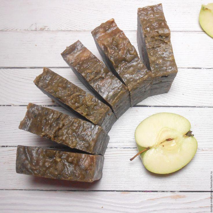 """Купить Натуральное глицериновое мыло """"Зеленое яблочко"""" - натуральное мыло, глицериновое мыло"""