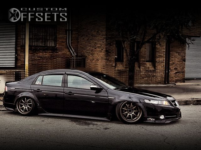 2 1 2007 tl acura bagged workemotion dx 9 work bronze tucked
