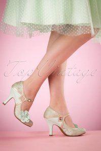 Ruby Shoo Cindy Ladies Mint Shoes 402 39 16798 03022016 003W