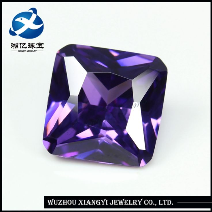 2017 New Product Square Cut Rough Amethyst CZ Stone Price From Wuzhou Co.