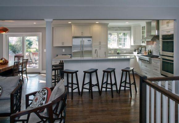 raised ranch kitchen transitional  ranch kitchen remodel