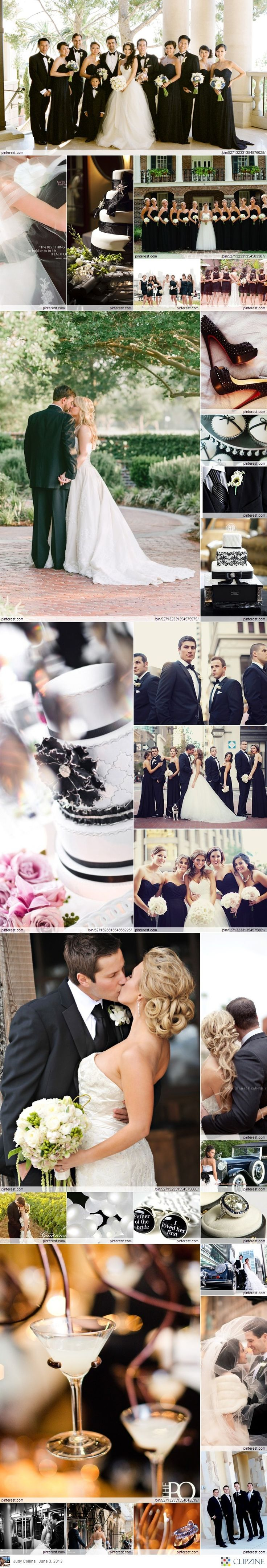 #black & white wedding ... Wedding ideas for brides, grooms, parents & planners!!