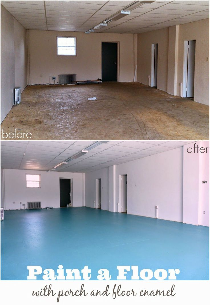 DIY Painted Particle Board Floor // Teal Painted Flooring // What kind of products to use explained in the post                                                                                                                                                     More