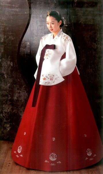 Hanbok -  traditional Korean dress.  This brightly colored hanbok would have been worn by nobility.
