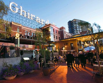 Ghirardelli Square SF My favorite stop in the City. My favorite is the Carmel Sea Salt Hot Cocoa. Kimmy & I have one in Monterey everytime we go!