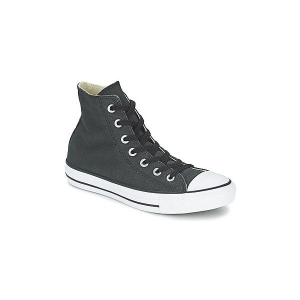 Converse ALL STAR COATED CANVAS HI Shoes (High-top Trainers) (£47) ❤ liked on Polyvore featuring shoes, sneakers, black, high top trainers, women, converse high tops, black hi tops, black hi top sneakers, converse trainers and black high top trainers