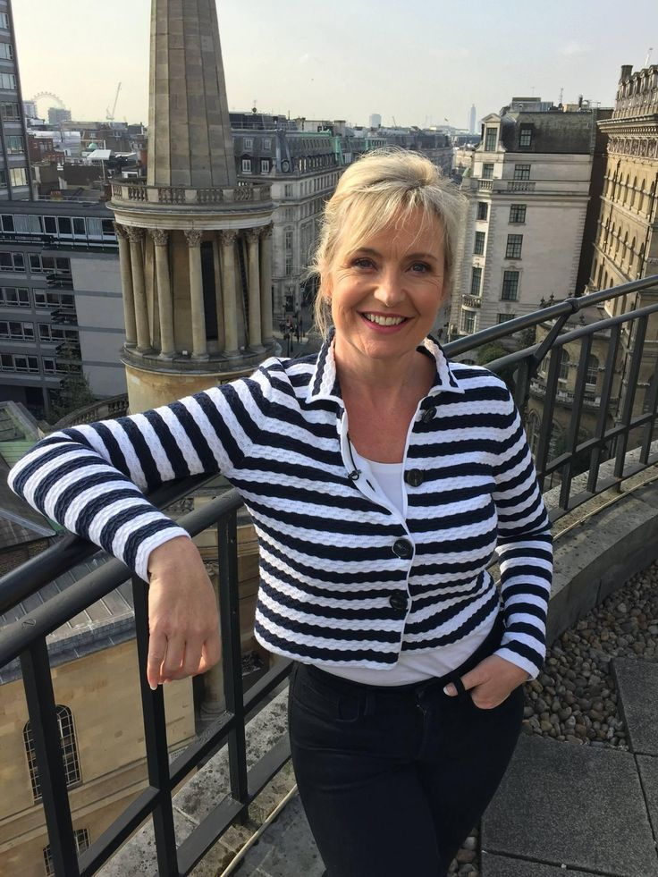 Carol Kirkwood wearing Winser London SS16.