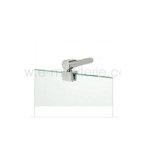Barre pour paroi douche - verre de 8 a 10mm- orientable