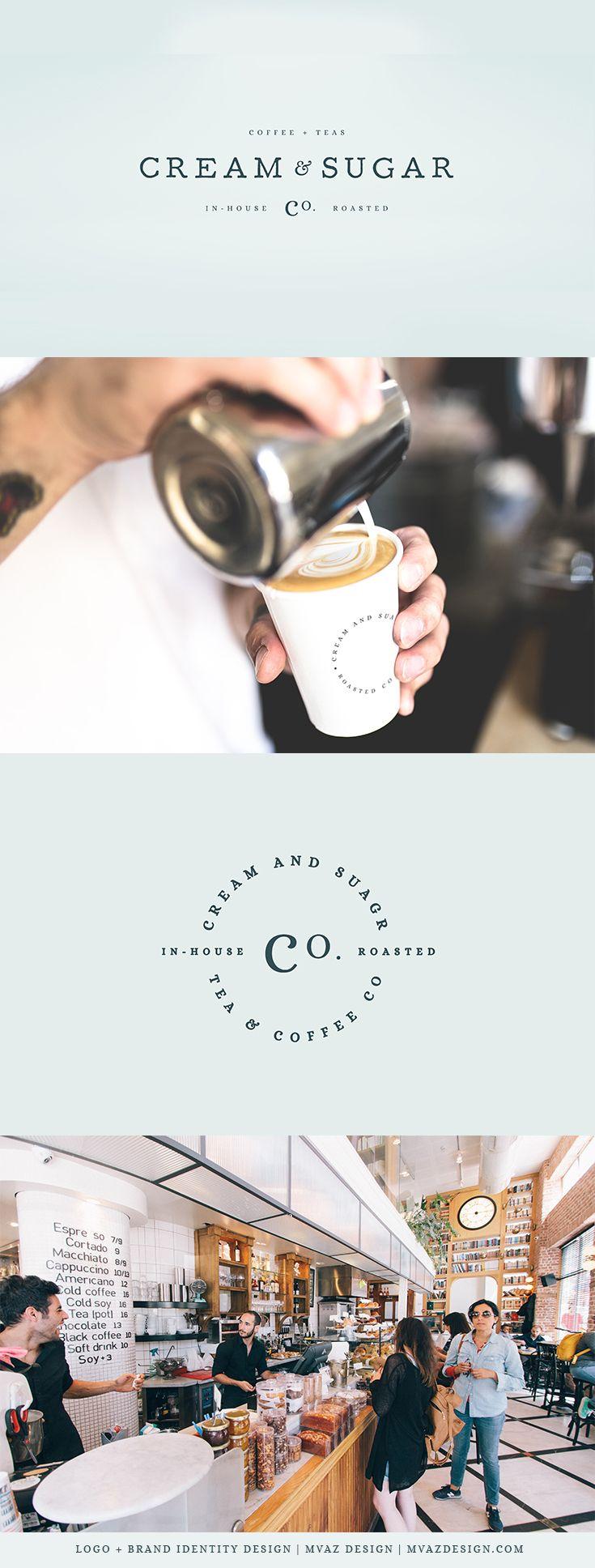 Cream & Sugar   Café Logo Design & Brand Identity   By MVAZ Design   www.mvazdesign.com