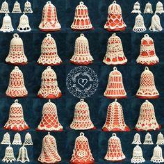 Hand Crocheted Bells from Heritage Heartcraft