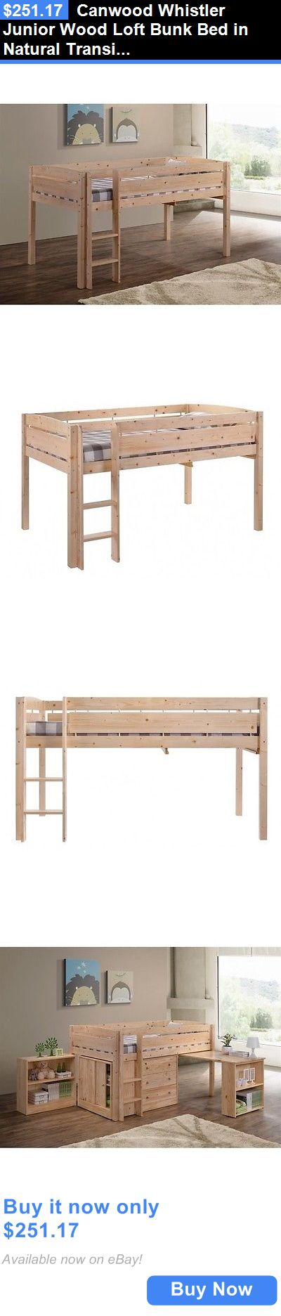 Kids Furniture: Canwood Whistler Junior Wood Loft Bunk Bed In Natural Transitional Kids BUY IT NOW ONLY: $251.17
