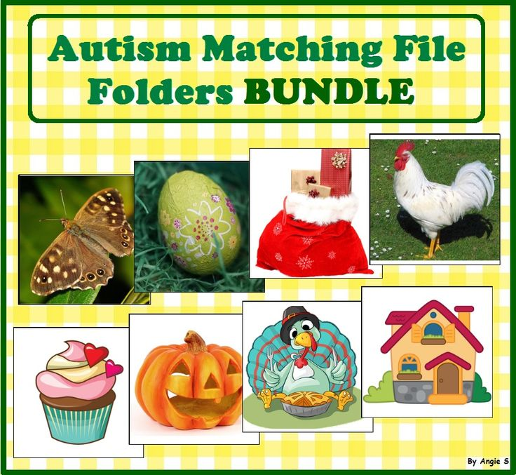 Matching File Folders Bundle for Autism For more resources follow https://www.pinterest.com/angelajuvic/autism-special-education-resources-angie-s-tpt-sto/
