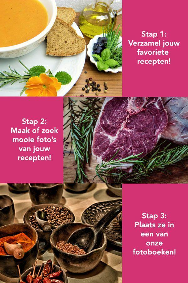 Altijd al zelf een receptenboek willen maken?  Plaats ze in een fotoboek van Het Fotoalbum. In dit artikel geven wij tips om een DIY receptenboek te maken! Er is namelijk niets zo leuk als koken uit je eigen kookboek.   Wist je dat: een gepersonaliseerd kookboek ook heel leuk is om cadeau te doen?!