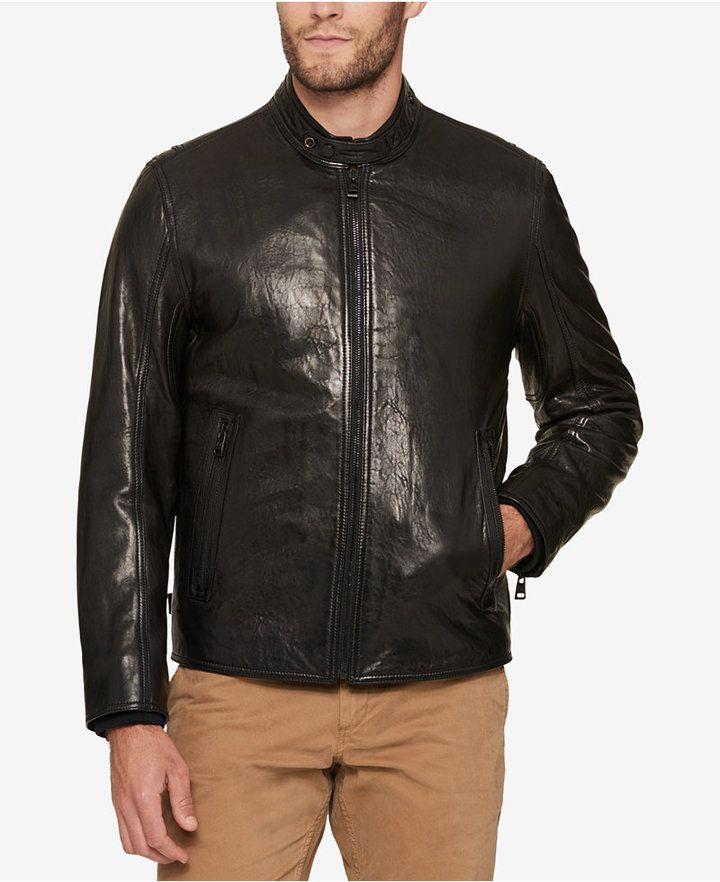 Andrew Marc Men's Leather Moto Jacket