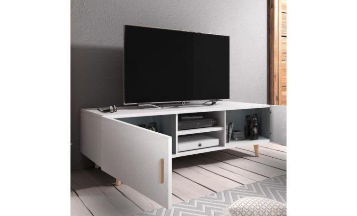 Interior Design Meuble De Tv Blanc Brillant Meuble Tv Salon Rivano Ii Cm Blanc Mat Brillant Cool Furniture Transforming Furniture Reupholster Furniture