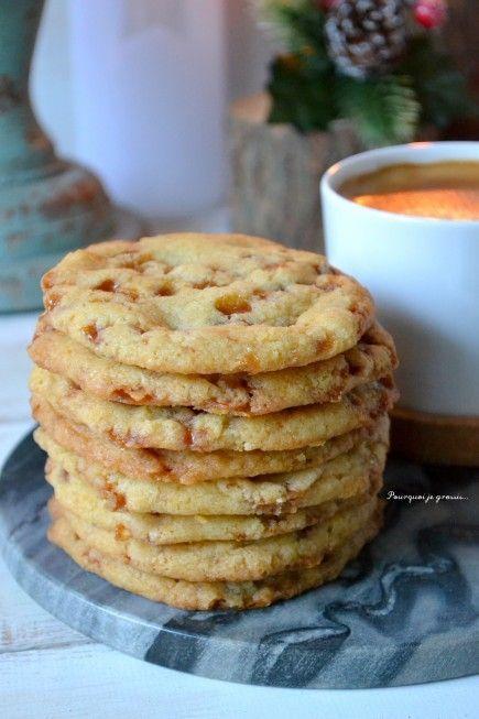 Cookies aux éclats de caramel au beurre salé ... ou Butterscotch cookies ! - Pourquoi je grossis