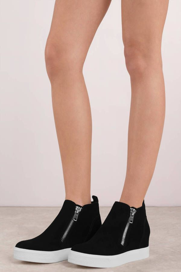 7c03fa65025 Looking for the Steve Madden Wedgie Black Suede Sneakers