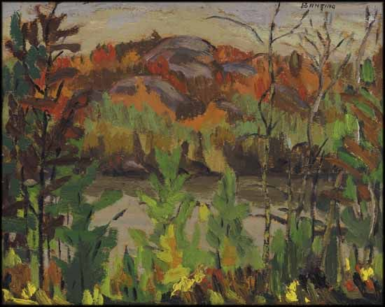 Sir Frederick Banting - French River 8.5 x 10.5 Oil on board