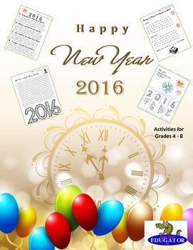 New Years 2016. Happy New Year! Activities that will get your students back to thinking. Included pages: New Year Resolution 20162016 - 2 Wishes for the New Year,  0 What I Promise Not to Do, 1 Resolution , and 6 Things I Can Do For OthersBooks I Want to Read in 2016 - Fiction and Nonfiction2016 Design Your Own BookmarksA New Year Poem - Find the CoupletsWrite a New Year Poem 2016 PredictionsHow I Plan to Reach my Goal in 2016My 2016 Flip BookMy Wishes for 2016 - for family, community…
