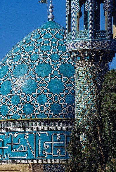 Mosaic tile dome / facade in Uzbekistan