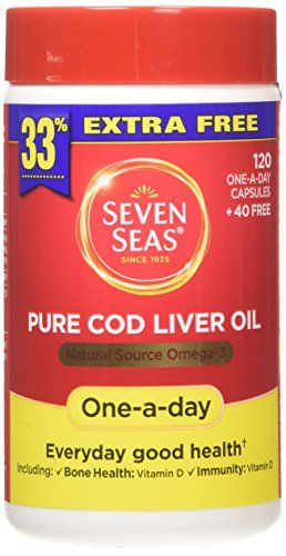The Product Seven Seas Pure Cod Liver Oil Natural Source with Omega-3 Capsules - Pack of 120 Capsules  Can Be Found At - http://vitamins-minerals-supplements.co.uk/product/seven-seas-pure-cod-liver-oil-natural-source-with-omega-3-capsules-pack-of-120-capsules/