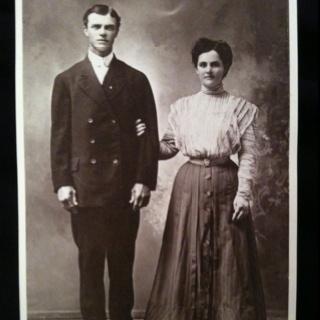 Great grand parents wedding photos