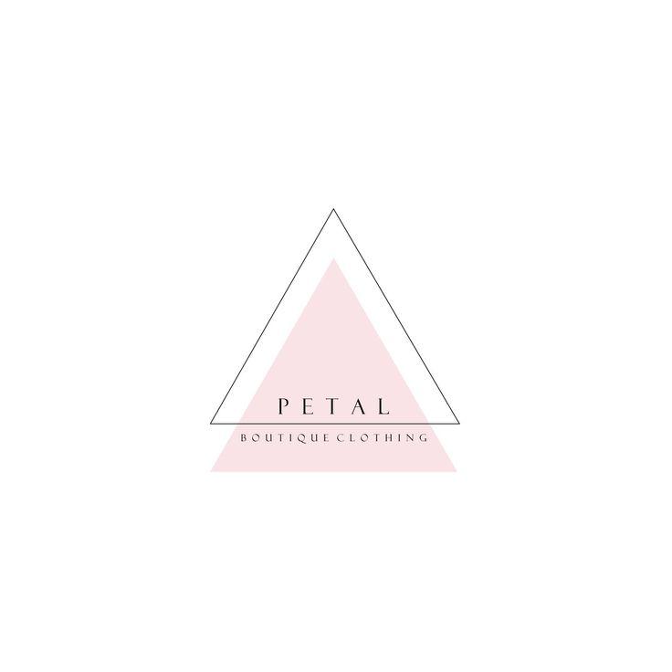 Custom Business Logo design - Pre made Geometric logo, Pastel Triangle Logo & Watermark, Scandi logo design
