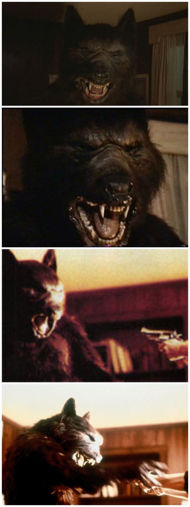 Silver Bullet Werewolf, Omg I remember my parents watching this movie when I was a kid and me and my sister saw weren't allowed but we snuck out of our rooms and caught a peak anyway. It was on this scene. Gave me nightmares lol!