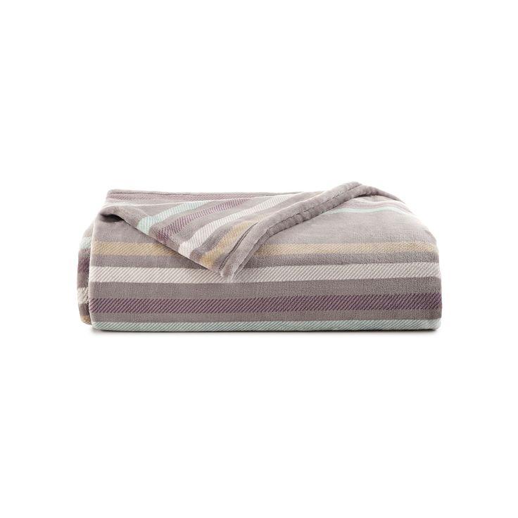 Vellux Plush Blanket, Grey